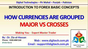How Currencies Are Grouped In Major And Cross Currency Groups In Urdu Hindi