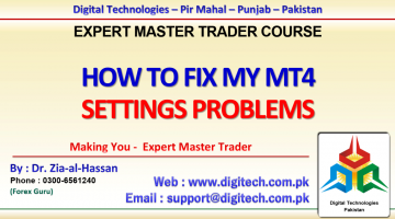 How To Fix My MT4 Settings Problems In Urdu Hindi