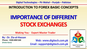 Importance Of Different Stock Exchanges In Urdu Hindi
