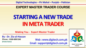 How To Open New Trade In MT4 In Urdu Hindi