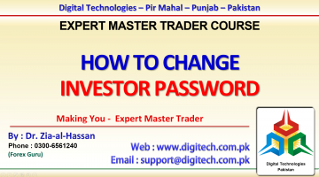 How To Change Investor Password In MT4 In Urdu Hindi