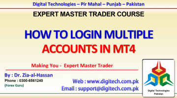 How To LogIn Multiple Accounts In MT4 In Urdu Hindi