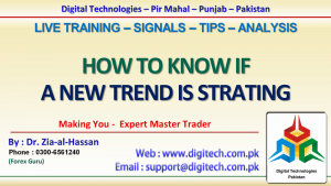 How To Know If A New Trend Is Starting Or How To Identify Trend Reversal