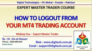 How To Log Out From Your Trading Account From MT4 In Urdu Hindi