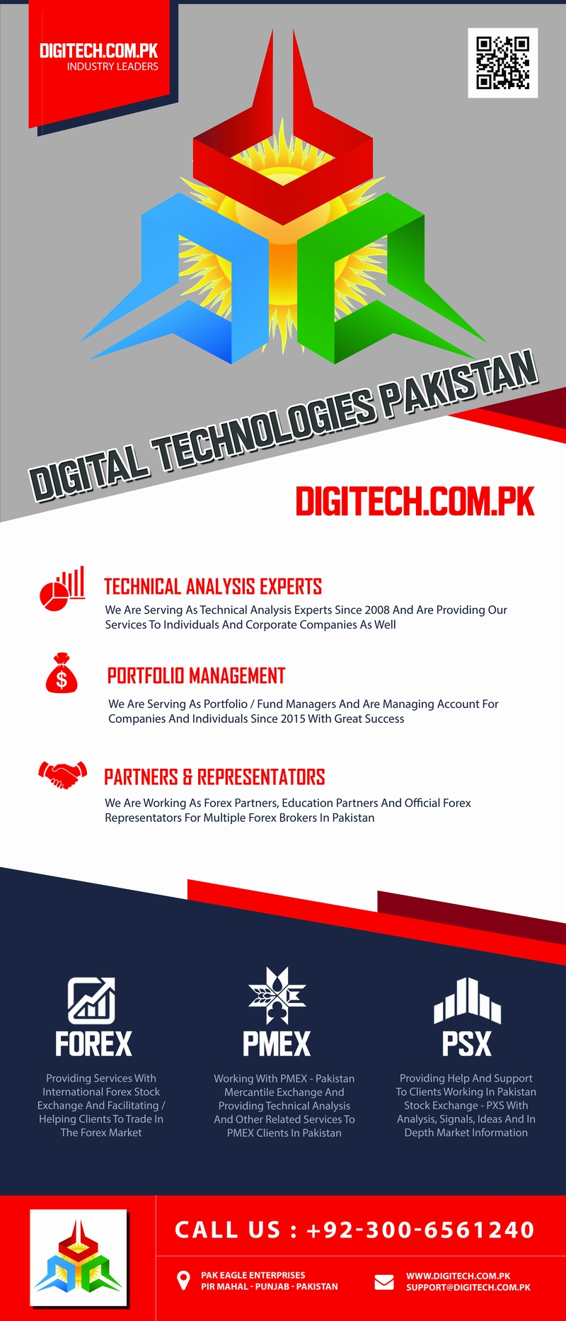 DigiTech.Com.Pk Roll Up Banner For Upcoming Forex Traders Seminar And Meetups