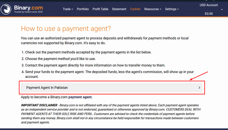 How To Use Payment Agent In Binary.Com